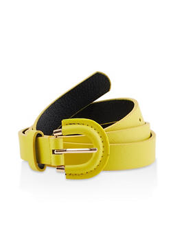 Faux Saffiano Leather Skinny Belt | 3128074392813 - 3128074392813