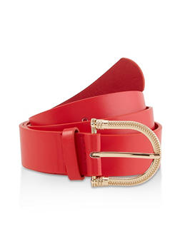 Plus Size Textured D Ring Buckle Belt - 3128074392832
