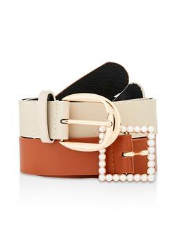 Mixed Buckle Belt Duo - 3128074392863