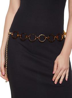 Tortoise Ring Chain Belt - 3128074395355