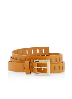Perforated Square Buckle Belt - 3128074500033