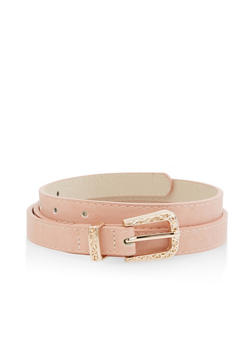 Faux Leather Skinny Belt - 3128074500738