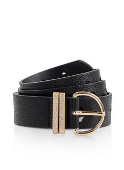Plus Size Laser Cut Faux Leather Belt - 3128074500770