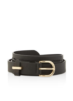 Faux Leather Laser Cut Belt - 3128074500806