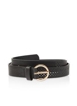 Laser Cut Faux Leather Belt - 3128074500831