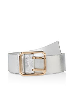 Plus Size Faux Saffiano Leather Belt - 3128074500877