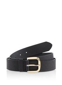 Plus Size Star Embossed Faux Leather Belt - 3128074502727