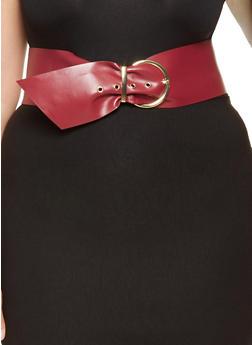 Plus Size Faux Leather Waist Belt - 3128074505980