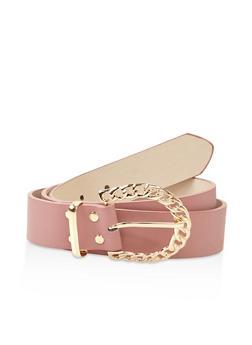 Plus Size Chain Link Buckle Belt - 3128074508035