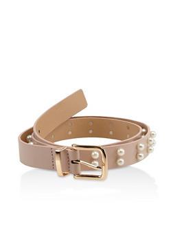 Faux Pearl Skinny Belt - 3128074508121