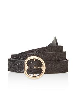 Plus Size Glitter Skinny Belt - 3128074509001