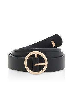 Bee Detail Skinny Faux Leather Belt - 3128075132377