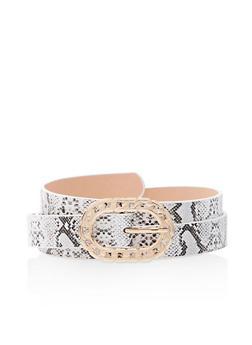 Plus Size Metallic Chain Buckle Belt - 3128075136623
