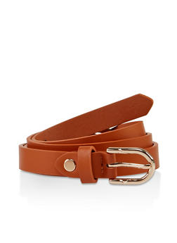 Braided Detail Faux Leather Belt - 3128075471400