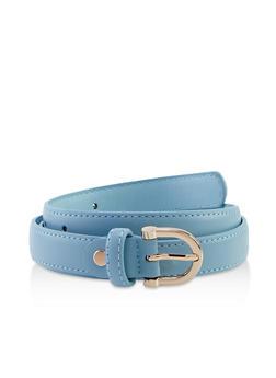 D Ring Buckle Skinny Belt - 3128075471630