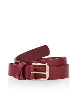 Criss Cross Loop Faux Leather Belt - 3128075471812