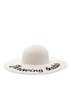 3d214393 Throwing Shade Floppy Straw Sun Hat - 3129067441009