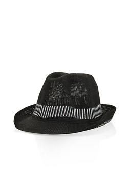 Two Tone Knit Fedora - 3129067443206