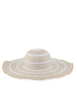 Lurex Floppy Straw Sun Hat - 3129067449005
