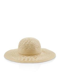 Floppy Straw Hat - 3129067449006