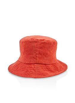 Corduroy Bucket Hat - RUST - 3129067449022
