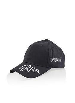 Grrr Inspiration Embroidered Baseball Hat - 3129074391302