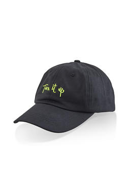 Turn It Up Embroidered Baseball Hat - 3129074391313