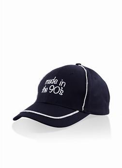 Graphic Rhinestone Baseball Cap - 3129074392153