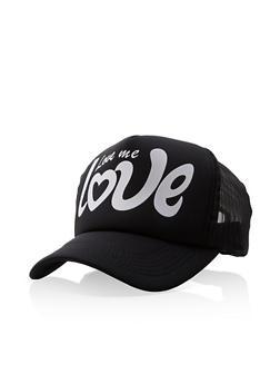 71619397 Love Me Love Graphic Trucker Hat - 3129074393008