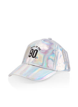 Iridescent Graphic Baseball Cap - 3129074502280