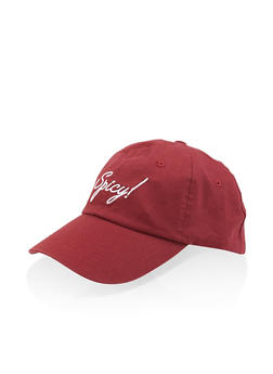 Spicy Graphic Embroidered Baseball Cap - 3129074507602