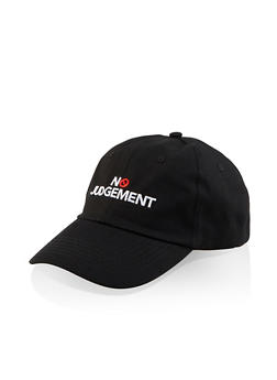 No Judgement Embroidered Baseball Cap - 3129074507617