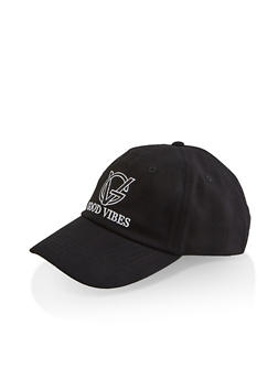 Good Vibes Embroidered Baseball Hat - 3129075476180