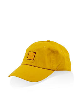 This Girl Can Embroidered Baseball Cap - MUSTARD - 3129075476212