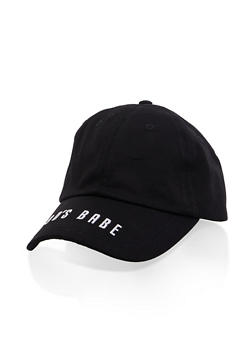90s Babe Embroidered Brim Baseball Cap - 3129075477611