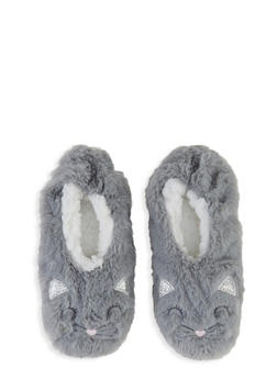 Glitter Animal Embroidered Slippers - 3130055320855