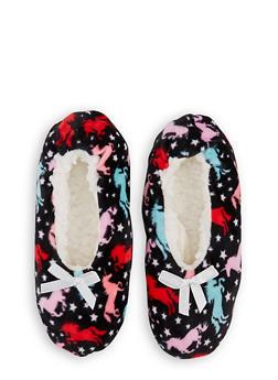 Animal Print Fuzzy Slippers - 3130055321325