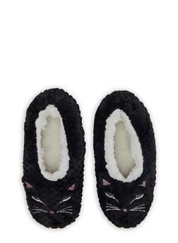 Sherpa Animal Slippers - BLACK - 3130055324488