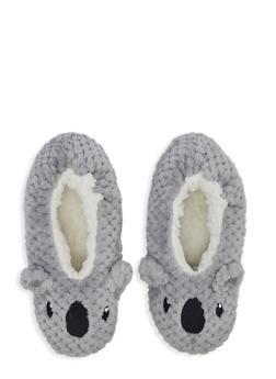 Sherpa Animal Slippers - GRAY - 3130055324488