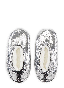 Reversible Sequin Slippers - SILVER - 3130055326699