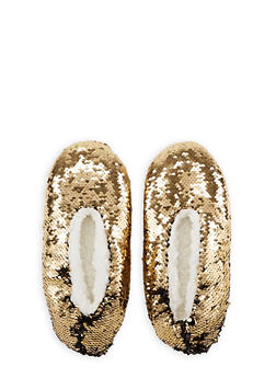 Reversible Sequin Slippers - GOLD - 3130055326699