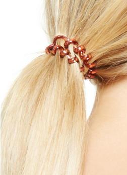 Set of 4 Flexible Cord Hair Ties - 3131018433169