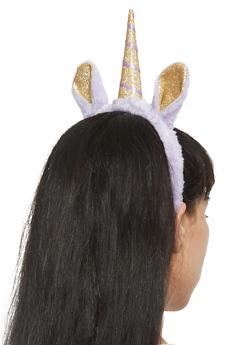 Plush Glitter Unicorn Headband - 3131018433950