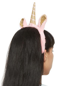 Plush Glitter Unicorn Headband - 3131018433950