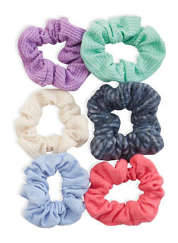 6 Assorted Scrunchies - 3131057691698