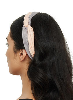 Two Tone Knot Front Headwrap - 3131059635931
