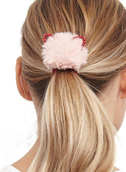 Set of Animal Ear Pom Pom Hair Ties - 3131059636748