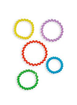 Neon Spiral Hair Ties - 3131062752134