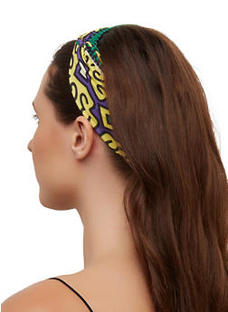 Knot Front Printed Headwrap - 3131063090985