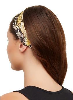 Snake Print Head Wrap - 3131063091103